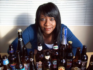 Marverine Cole - Beer Beauty - woman with bottles of real ale (2)