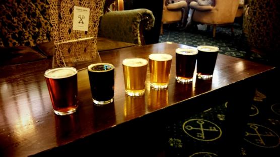 line of beers